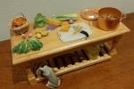 Tavolo cucina miniatura x dollhouse 1/12: Zuppa di verdure