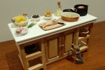 Tavolo cucina miniatura x dollhouse 1/12: Insalata di polpo