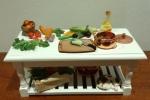Tavolo cucina miniatura dollhouse 1/12: Ratatouille verdure