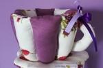 Tazza portatutto handmade viola