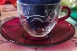 Tazzine caffè vetro inciso