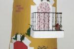 Tegola artistica per interni ed esterni con facciata gialla