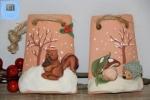 Tegole decorative piccole con riccio o scoiattolo
