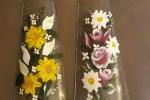 Tegole fuoriporta decorative con motivi floreali