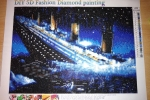 Tela 30x40 Titanic con tecnica diamond painting