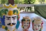 Teste di moro in ceramica dipinte a mano