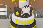 Torta compleanno in gomma eva con zebra