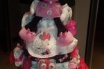 Torta di pannolini Minnie con accessori tutto disney