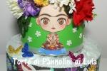 Torta di Pannolini Pampers Baby Dry Frida Kahlo idea regalo