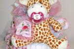 Torta di Pannolini Pampers Baby Dry + Giraffa idea regalo