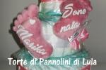 Torta di Pannolini Pampers Baby Dry Piedini impronte