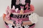Torta scenografica Minnie rosa e nera