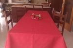 Tovaglia natalizia colore rosso 140cmx290cm