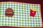 "Tovaglietta americana ""patatine ed hamburger"""