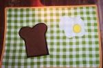 Tovaglietta americana con uovo e toast