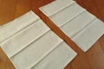 6 tovagliette ecrù realizzate in tessuto antico a telaio