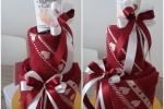 Towelcake & hearts Composizione con coppia salviette