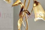 Tris in Ferro battuto decorato in oro e foglia oro