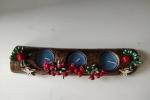 Tronchetto con candeline blu