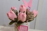 Tulipani di tessuto in vasetto
