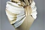 Turbante realizzato con stoffa jersey di cotone