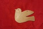 Uccellino in legno traforato a  mano