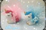 Unicorno in polvere di ceramica per bomboniere
