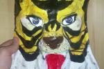 Uomo Tigre. Tiger man maschera.