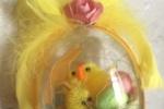 Uova pasquali in plexiglass con pulcino