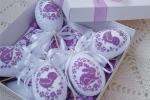 Uovo di pasqua ricamato punto croce