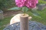 Vaso tronchetto di paulonia bucato per fiori