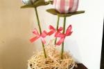 Vasetto con tulipani di stoffa