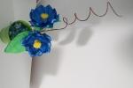 Vaso decorativo di fiori misti in gomma crepla