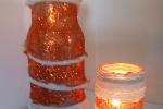 Vaso e portacandela in corda naturale