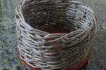 Vaso in vimini intrecciato 10 cm x 7 cm