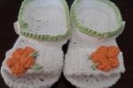 Scarpine neonato, puro cotone, fatte a mano