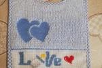 Bavetta personalizzata con scritta Love e Biberon