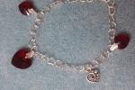 Bracciale con perle Swarovski a forma di cuore