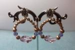 Orecchini a cerchio con perle Swarovski