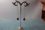 Orecchini pendenti con perle Swarovski  forma di cuor