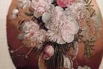 Quadro fiori a mezzo punto