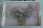 Vendo vassoio in legno decorato in stile shabby chic