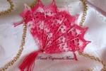 Ventaglio rosa all'uncinetto (miniatura)