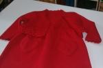 Vestina con giaccino rosso