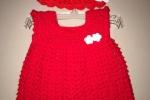 Vestitino neonata all'uncinetto lana o cotone