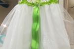 Vestito bimba a mano verde