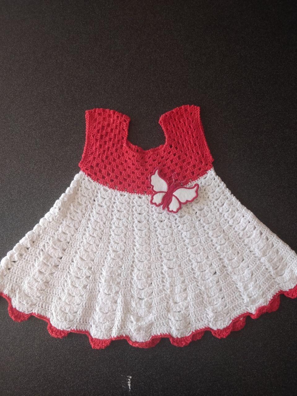 new style f089f 2e732 Creazioni - Neonato - Vestito neonato bianco e rosso 0-3 mesi