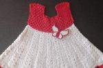 Vestito neonato bianco e rosso 0-3 mesi