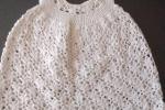 Vestito uncinetto cotone bianco 3-6 mesi