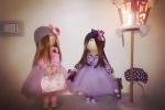 Violette, bambola in tessuto tonalità lilla